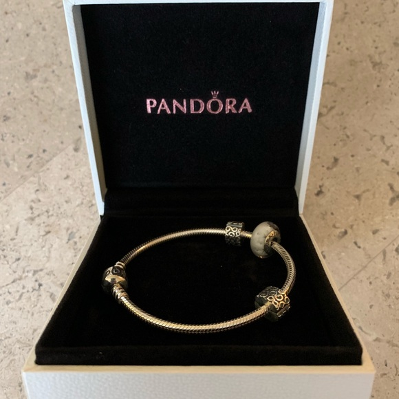 a897967a50c Pandora Sterling Silver Charm Bracelet with Charms